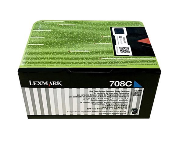 图片 利盟(Lexmark)70C8HC0 青色碳粉盒 大容量 适用于:CS310 CS410 CS510