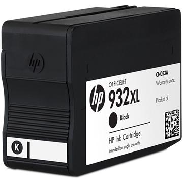 图片 惠普 HP 大容量墨盒 CN053AA 932XL (黑色) 原装高容 标准打印1000页 黑色 (单位:盒) 适用机型:HP Officejet 7110/7610/7612