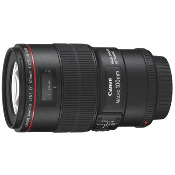 图片 佳能 单反镜头 EF 100mm F/2.8L IS USM 黑色