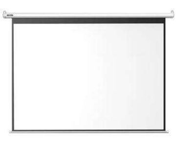 图片 高增益 200寸,16:9宽屏,白塑幕,电动遥控升降 投影幕