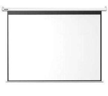 图片 红叶  高增益150寸幕 白塑幕 投影幕