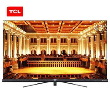 图片 TCL 43C6 43英寸4K超高清电视机 支持有线/无线连接 3840x2160分辨率 LED显示屏 二级能效 一年保修 黑色