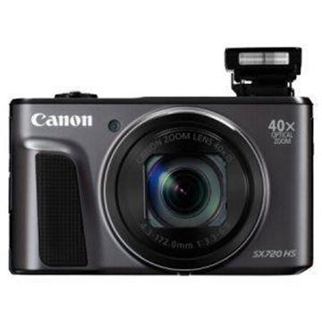 图片 佳能(Canon) PowerShot SX720 HS 数码相机 1/2.3英寸传感器 3.0英寸液晶屏无内置存储 24mm超广角 保修一年 黑色