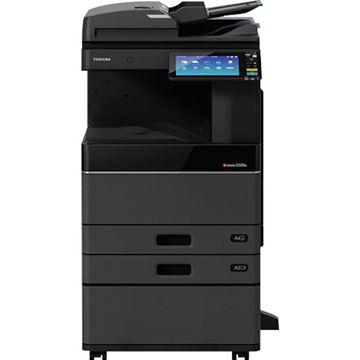 图片 东芝(TOSHIBA)FC-2515AC(e-STUDIO2515AC)多功能彩色数码复合机 A3激光双面打印复印扫描 /双面同步扫描输稿器/A3幅面 25张/分钟复印/网络打印/网络扫描 双面器/双纸盒/双面输稿器/工作台
